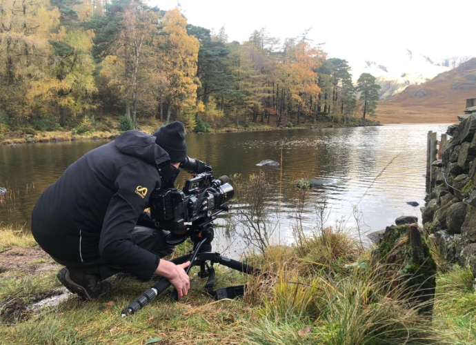 Alister Chapman with FX9 and anamorphic lens