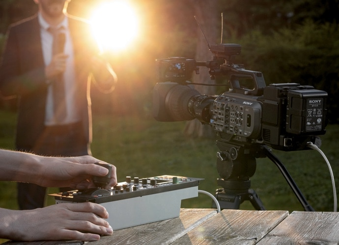 PXW-FX9 with XDCA-FX9 and RCP control