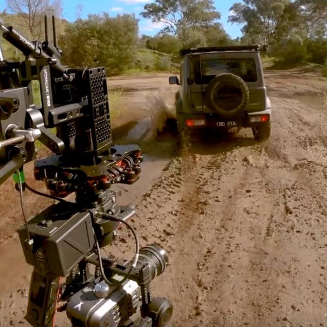 FX9 on vehicle mounted gimble