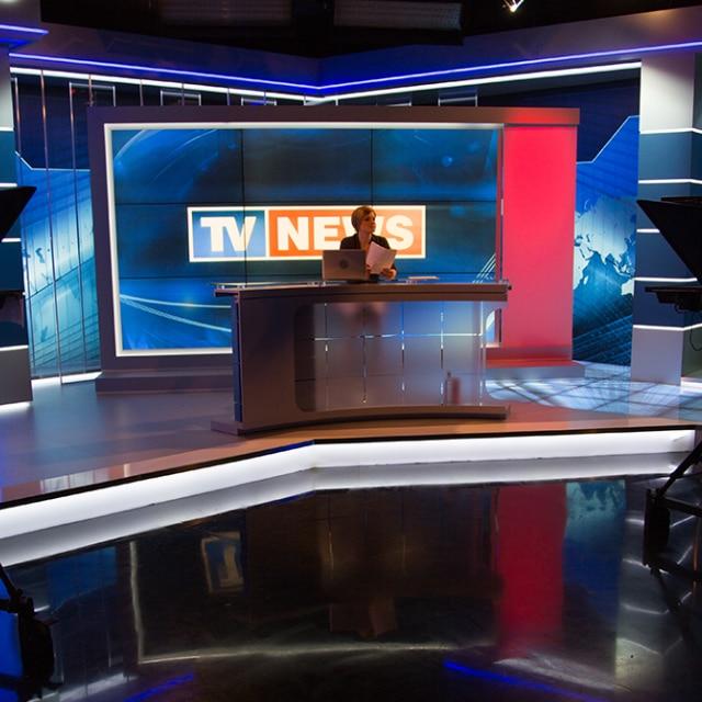 A news studio